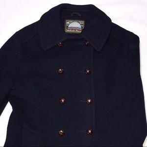 Mackintosh Jackets & Coats - MACKINTOSH NEW ENGLAND VINTAGE NAVY BLUE PEACOAT